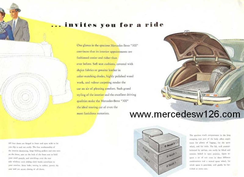 "Catalogue de 1954 sur la Mercedes W186 300 ""Adenauer"" W186_318"