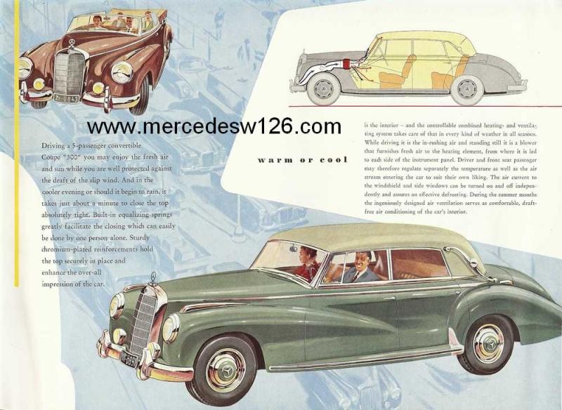 "Catalogue de 1954 sur la Mercedes W186 300 ""Adenauer"" W186_319"