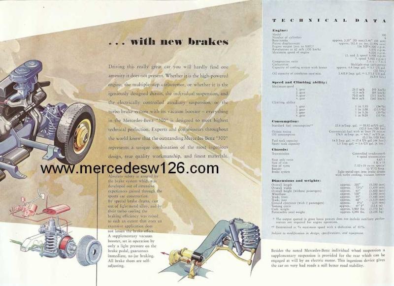 "Catalogue de 1954 sur la Mercedes W186 300 ""Adenauer"" W186_320"