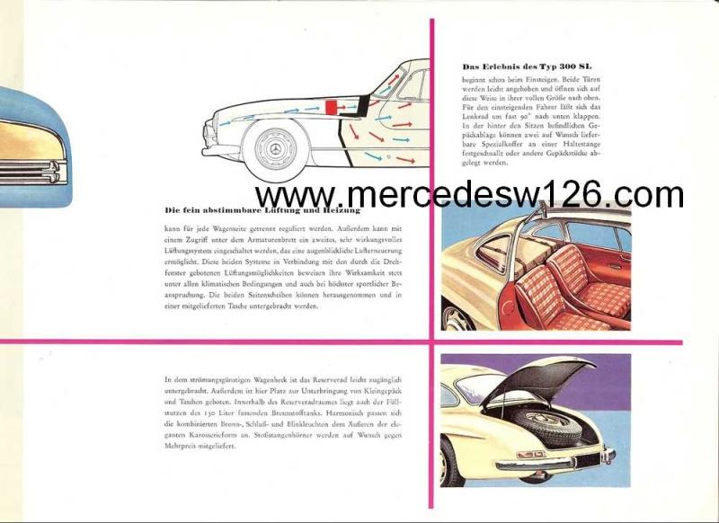 """Catalogue de 1956 sur la Mercedes W198 300 SL """"papillon"""" W198_112"""