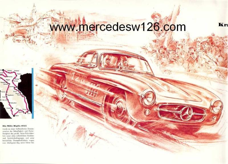 """Catalogue de 1956 sur la Mercedes W198 300 SL """"papillon"""" W198_113"""