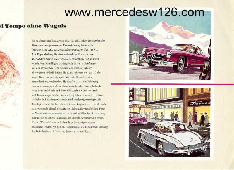 """Catalogue de 1956 sur la Mercedes W198 300 SL """"papillon"""" W198_117"""