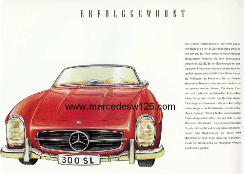 Catalogue de 1959 sur la Mercedes W198 300 SL W198_138