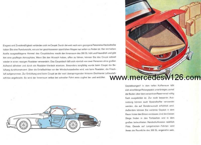 Catalogue de 1959 sur la Mercedes W198 300 SL W198_143