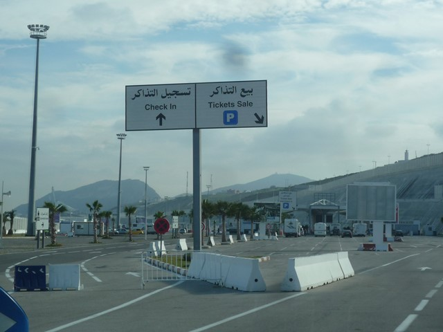 [Maroc/Le Bateau] Embarquement au port de Tanger Med P1130610
