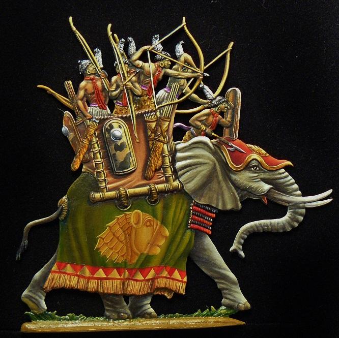 Elephant de guerre nubien - 30mm Ylypha10