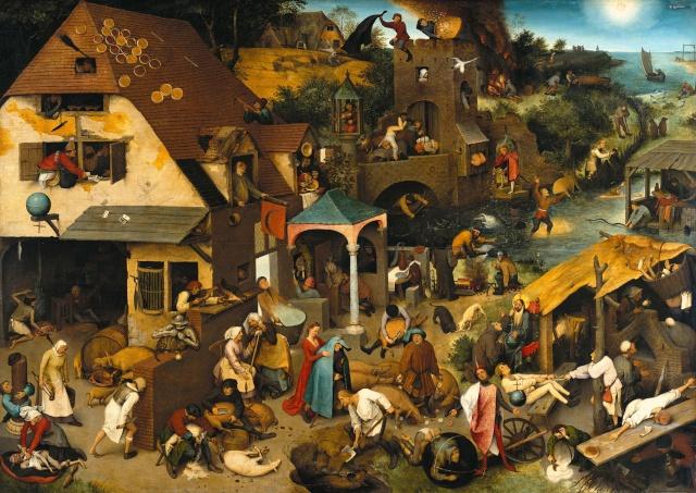 Breughel, Icare, danses paysannes et proverbes Breugh12
