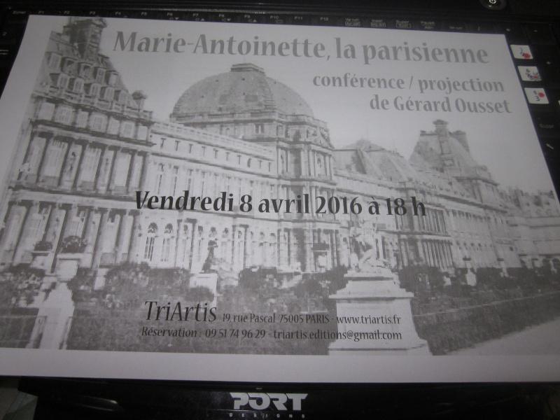 Conférence : Marie-Antoinette, la Parisienne Img_0210