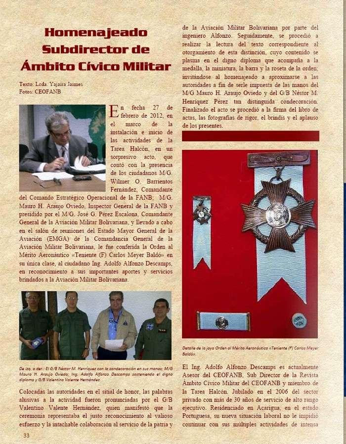 Orden al Mérito Aeronáutico Teniente (F) Carlos Meyer Baldó Orden_10