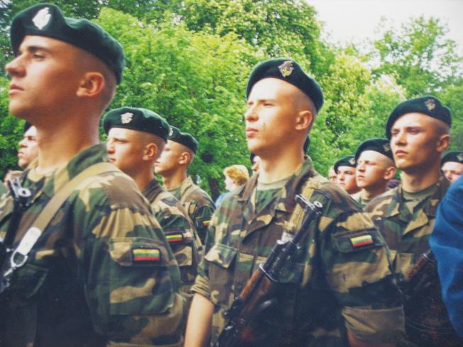 Lithuanian military and paramilitary berets Oldjeg10