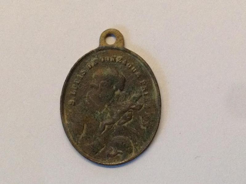 médaille religieuse Saint Louis de Gonzague.XIXèm Medail10