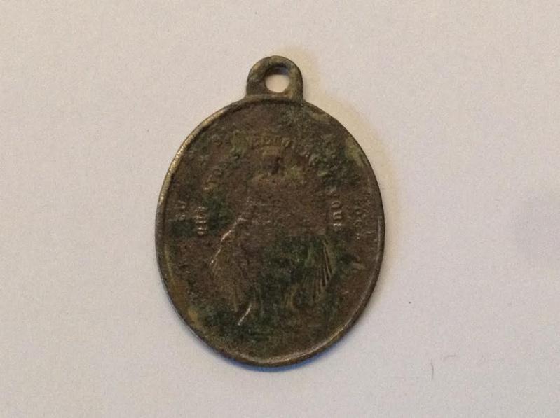 médaille religieuse Saint Louis de Gonzague.XIXèm Medail11