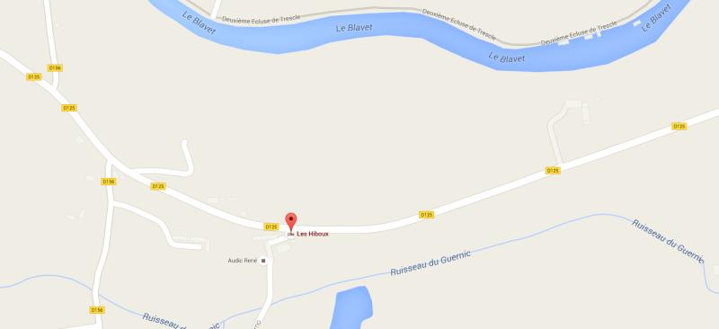 coordonnées GPS du gîte Maps10