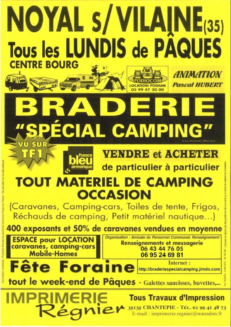 Braderie Spécial Camping à Noyal-sur-Vilaine Affich12