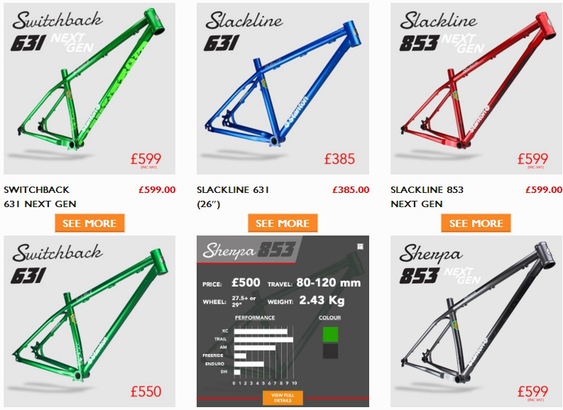 Les vélos Stanton Screen35