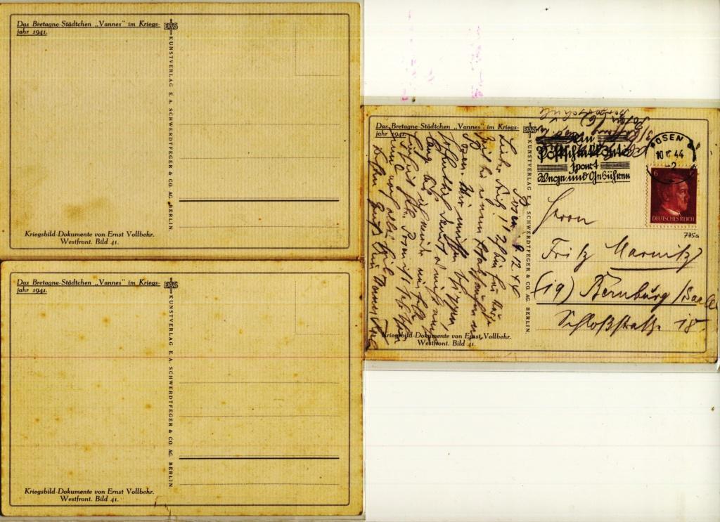 WW2 Vannes (56) en carte postale Sans_t85