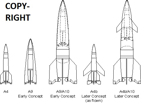 A-9 / A-10 Raketenprojekt in 1:72. A9a10c10