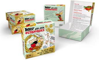 """Collection de cartes """"Astérix aux Jeux Olympiques""""  et balles magiques (cora et match) L015-510"""