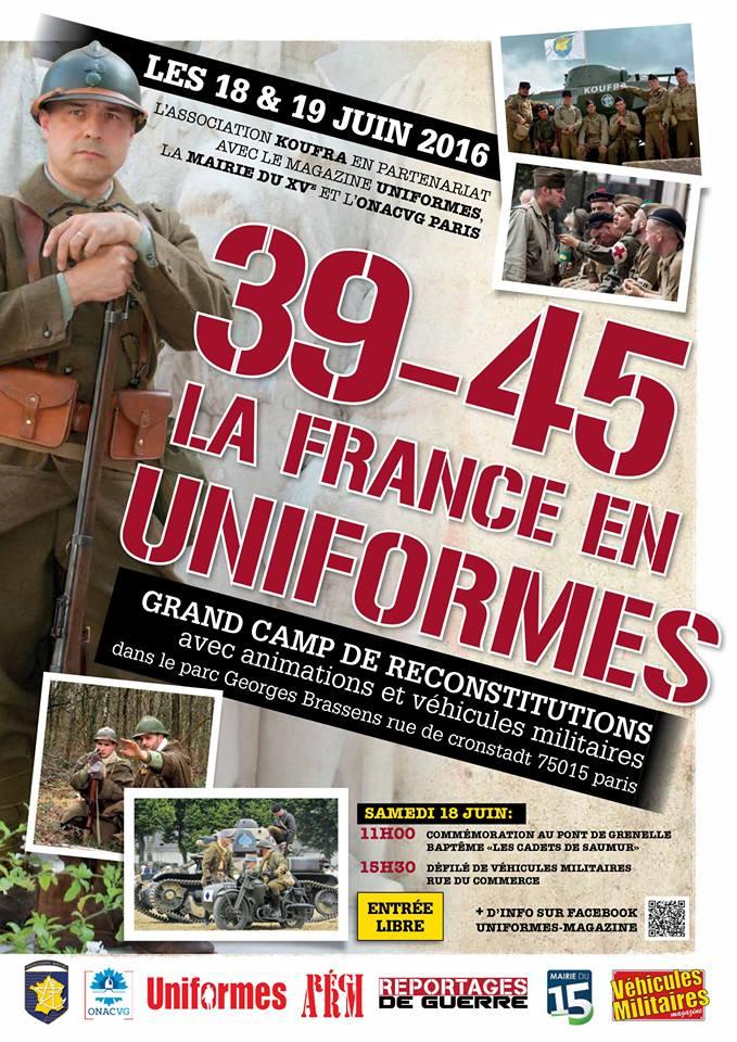 18 & 29 juin: 39-45, la France en uniforme - Paris 12938210