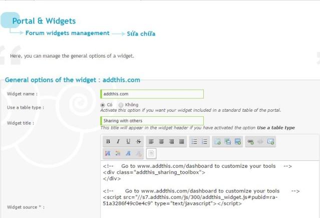 Chèn button Facebook, Twitter, Google+ vào forum Addthi13