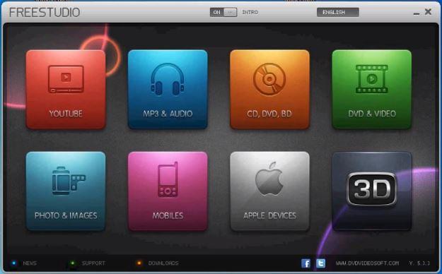 Phần mềm chuyển đổi video, audio -  Free Studio 5.3.3 Freest11