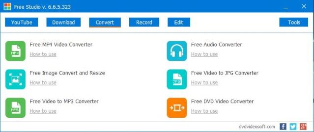 Phần mềm chuyển đổi video, audio - Free Studio 6.6.5 Freest12