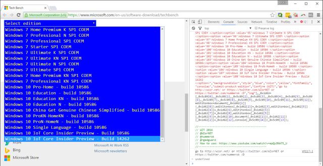Download WINDOWS ISO chính thức (mọi phiên bản) từ Microsoft Micros10