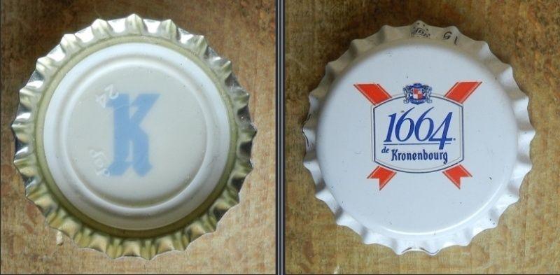 capsules de bière françaises avec un intérieur imprimé Kronen11