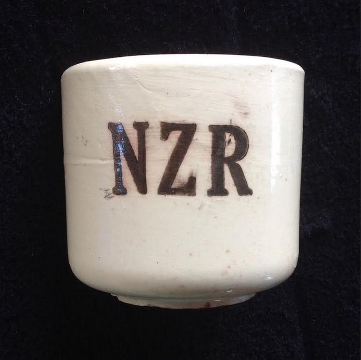 NZR shards: Ambrico NZR railway cups 1939-43 Amb110