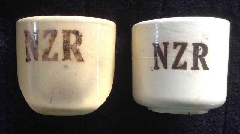 NZR shards: Ambrico NZR railway cups 1939-43 Amb310