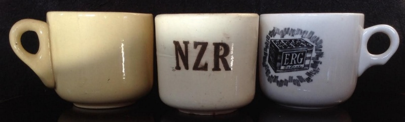 NZR shards: Ambrico NZR railway cups 1939-43 Amb910
