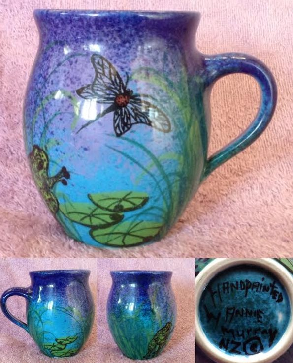 Annie Murray handpainted mug with mark Annie10