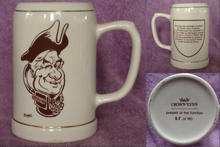 Tom Clark limited edition mug is shape 1397 Clark210