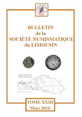 Tome XXIII du bulletin de la Société Numismatique du Limousin Couvb210