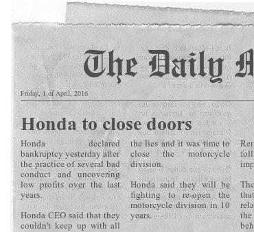 [Notícia] Honda vai fechar divisão de motas.  5f83df10