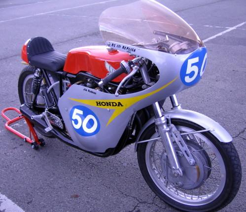 """VENTE HONDA 350 RC171 """"Jim Redman réplica"""" sur base 400 CBX  Rc171-10"""