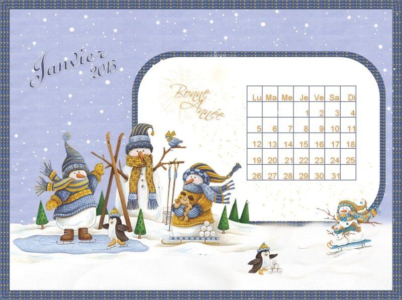 CALENDRIERS ORIGINAUX DES MOIS DE L ANNEE PAR ORDRE ALPHABETIQUE - Page 22 Janvie10