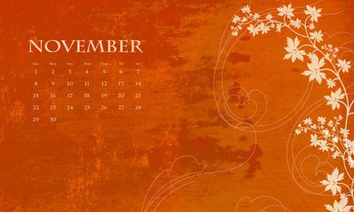 CALENDRIERS ORIGINAUX DES MOIS DE L ANNEE PAR ORDRE ALPHABETIQUE - Page 21 Novemb11
