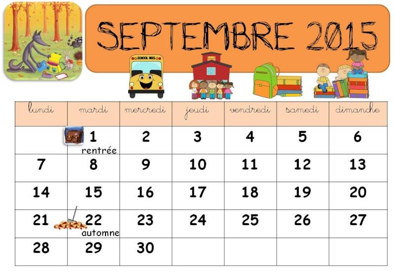 CALENDRIERS ORIGINAUX DES MOIS DE L ANNEE PAR ORDRE ALPHABETIQUE - Page 22 Sept10