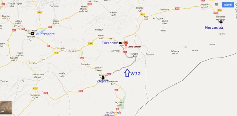 [Carburant, Routes, Police] la N12 entre Tazzarine et Zagora est  entièrement goudronnée. Plan10