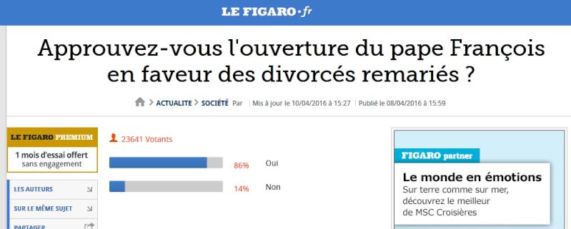 SONDAGE : « Approuvez-vous l'ouverture du Pape François en faveur des divorcés remariés ? » Captur10