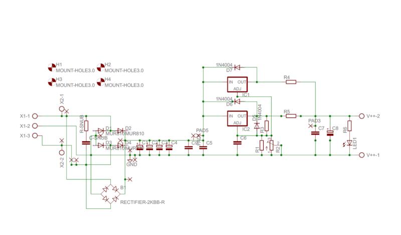 Alimentatore con doppio LT1083 - componenti e assemblaggio Schema11