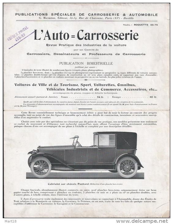 l'AUTO CARROSSERIE Revue Pratique des industries de la voiture 179_0010