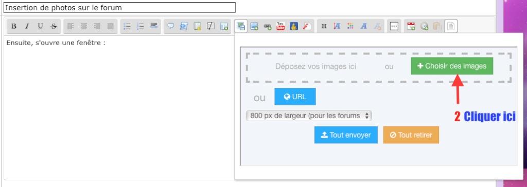 Insertion de photos sur le forum 210