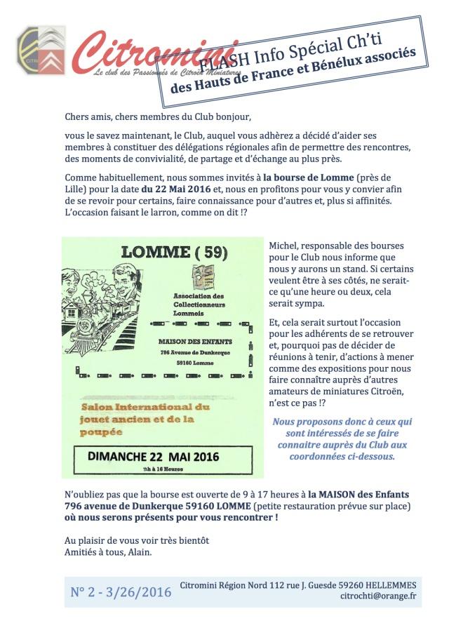 CALENDRIER HEBDOMADAIRE DES BOURSES & EXPOSITIONS 2016 PAR ERIC Flash_10
