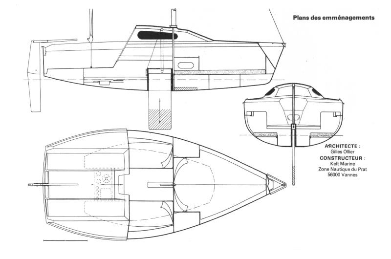 dimensions voiles d'avant Kelt-512
