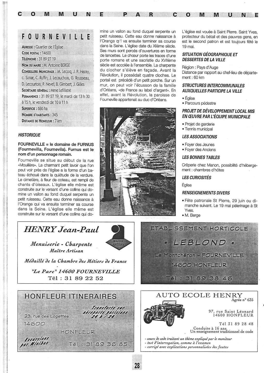Histoire des communes - Fourneville 1001210