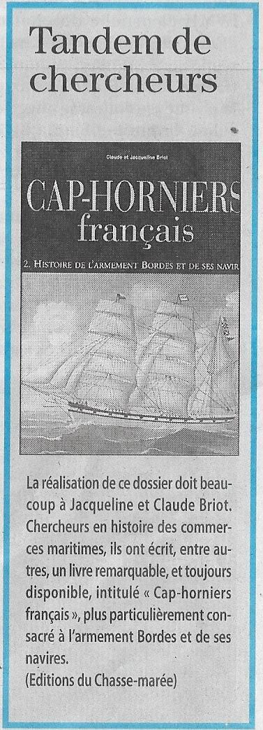 Histoire de bateaux - Les Cap-Horniers 1014