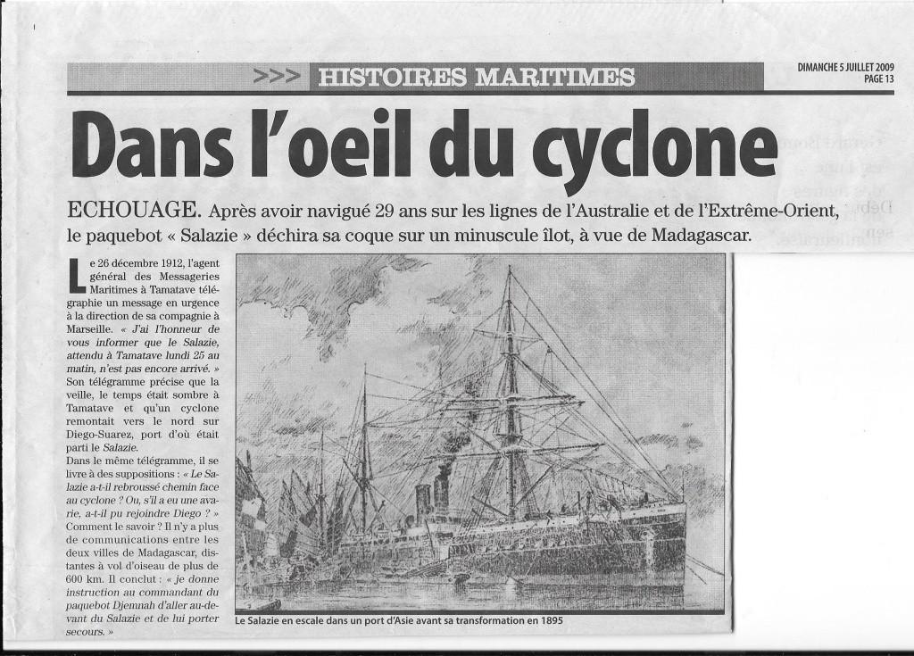 Histoire de bateaux - La Salazie 1107