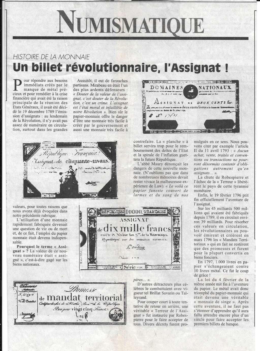 Havre - Histoire de la Monnaie 1110